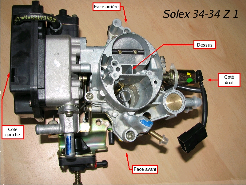 [TUTO] Fonctionnement et réglage carburateur solex 34-34 Z 1 T_01