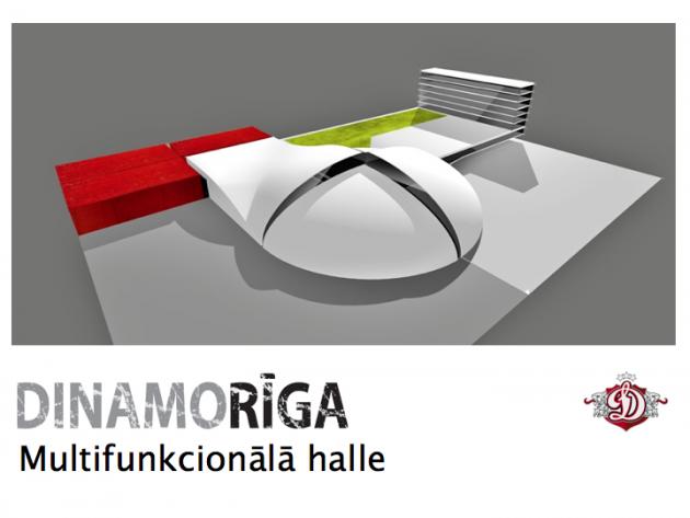 AS 'Dinamo Rīga' parāda jaunās halles projektu 1944174_K2lf18