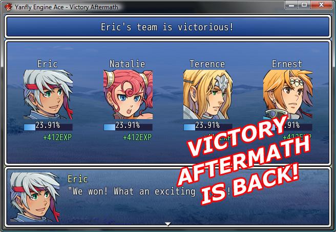 [RGSS3] Script de fin de combat. Victory Aftermath Va-01
