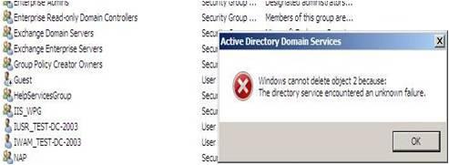 Active Directory Snapshots Windows 2008 24