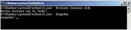 Active Directory Snapshots Windows 2008 4