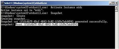 Active Directory Snapshots Windows 2008 9