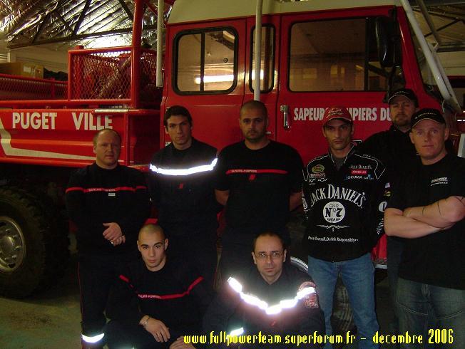 Solidarité Famille des pompiers tués : REMISE DE DONS 2006 CollectePompierphoto1