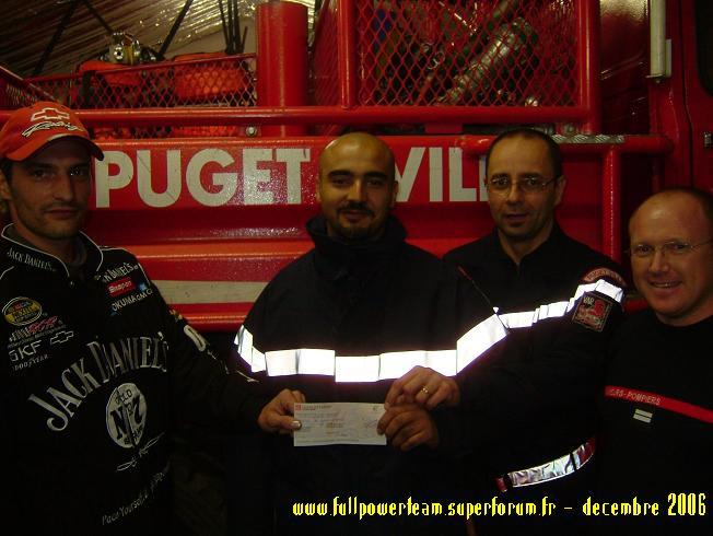 Solidarité Famille des pompiers tués : REMISE DE DONS 2006 CollectePompierphoto2