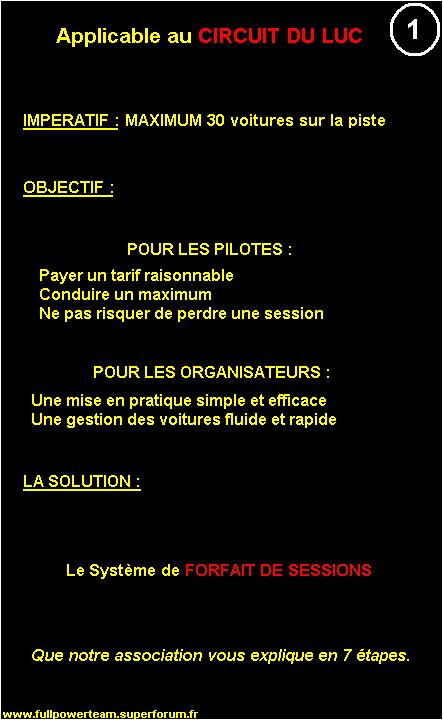 Pétition : SYSTEME DE FORFAIT DE SESSIONS applicable au LUC 1