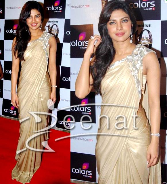 Priyanka Chopra - Stránka 3 Priyanka-saree-saris1