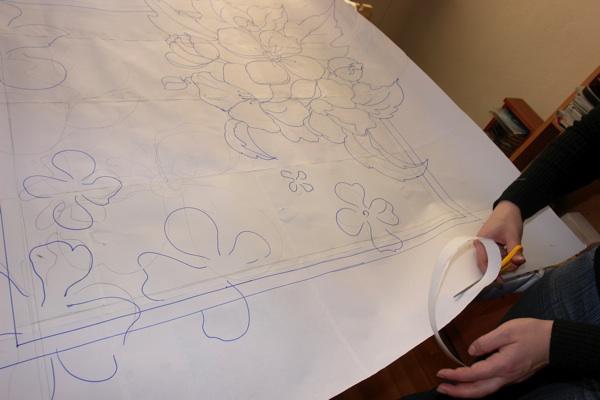 Рисуем платок в технике холодного батика Batik_07
