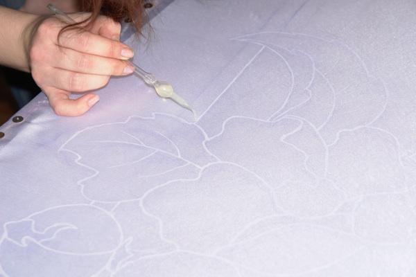 Рисуем платок в технике холодного батика Batik_10