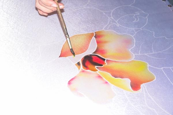 Рисуем платок в технике холодного батика Batik_14