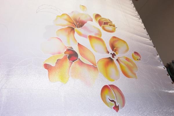 Рисуем платок в технике холодного батика Batik_15