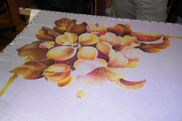 Рисуем платок в технике холодного батика Batik_16