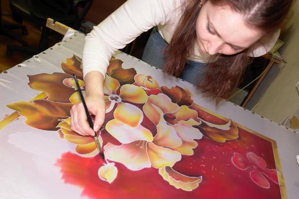 Рисуем платок в технике холодного батика Batik_18