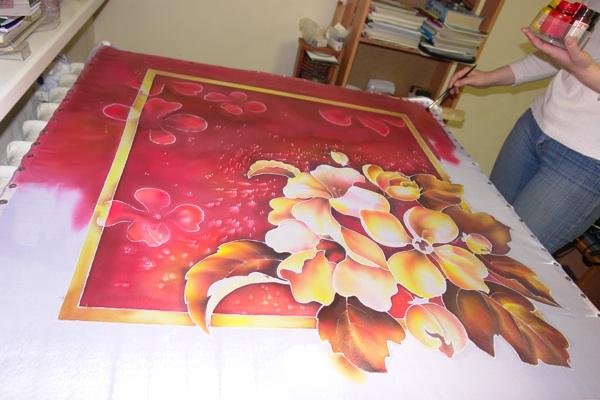 Рисуем платок в технике холодного батика Batik_19
