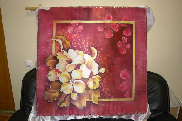 Рисуем платок в технике холодного батика Batik_24