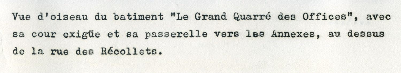 Le Grand Commun, à Versailles Domlar_mars_1976_2_legende