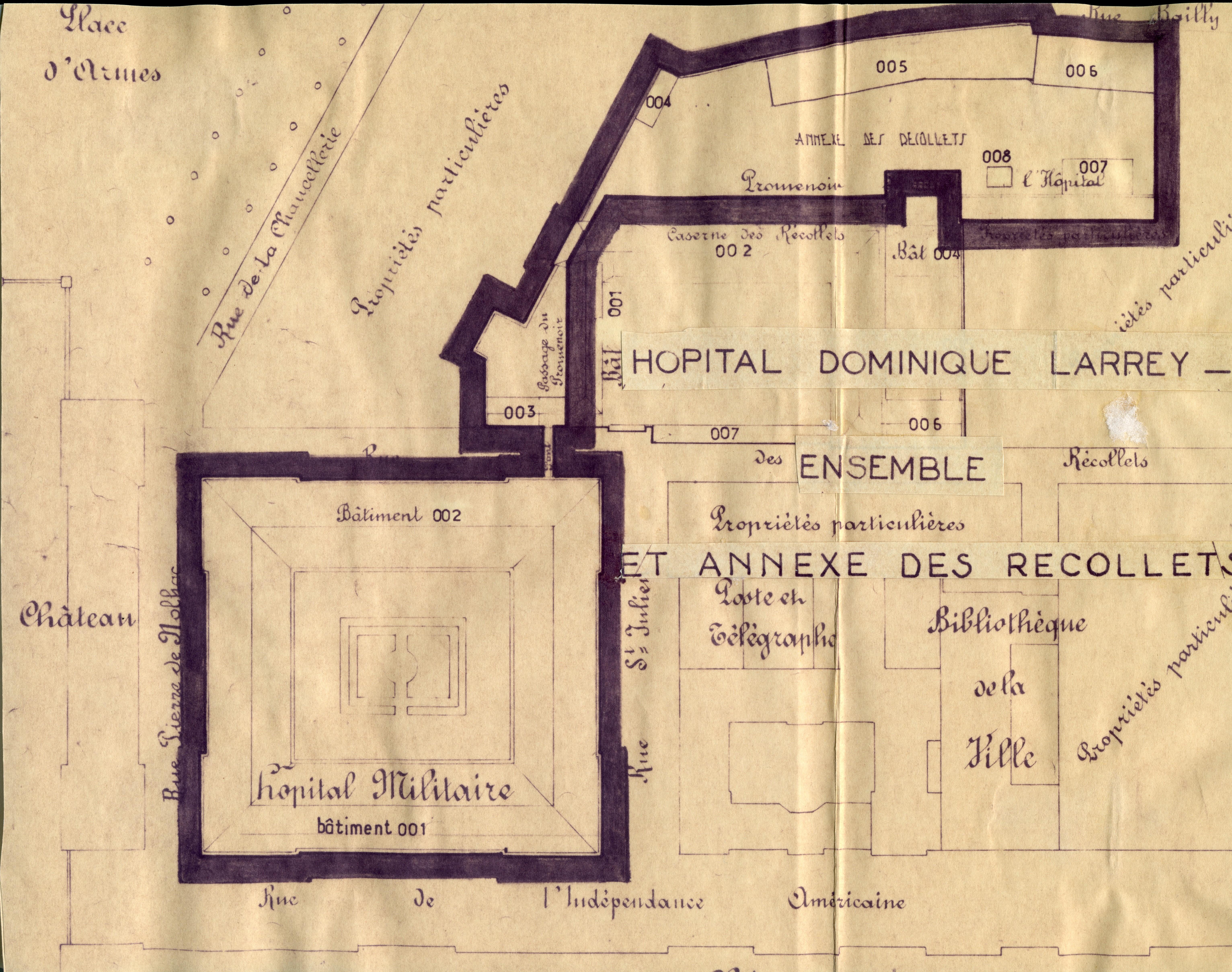 Le Grand Commun, à Versailles Domlar_plan_ensemble