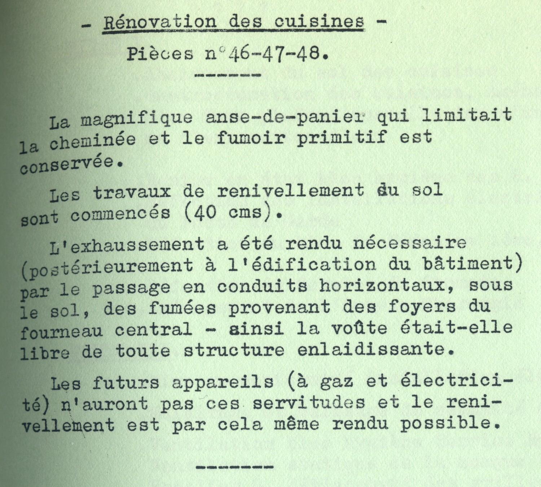 Le Grand Commun, à Versailles Domlar_1977_renovation_cuisine_1et2_legende