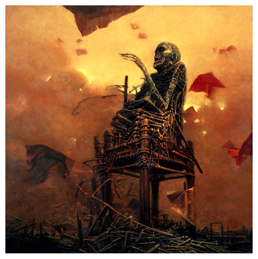 El arte gótico y oscuro de Zdzislaw Beksinski Beksinski-borde-05
