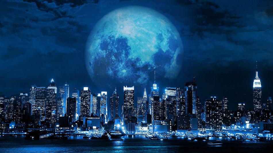 Blue Moon City... By Night