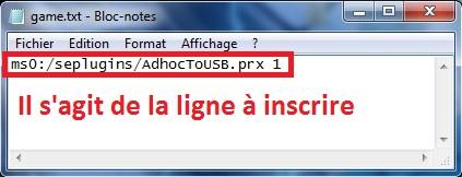 [ PSP ] XLink Kaï : Jouer en ligne graçe à un pc 1334958892-InstallationAdhoctousb3