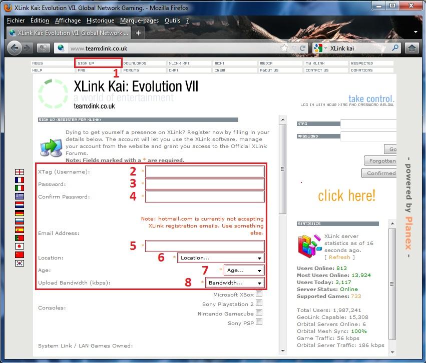 [ PSP ] XLink Kaï : Jouer en ligne graçe à un pc 1335125306-InscriptionsurlesitedeXLinkKai1