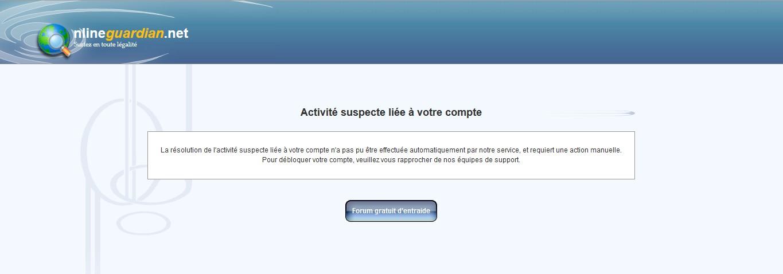 """Problème de connexion """"Activité suspecte liée à votre compte"""" 1402477358-screen-pbco-3"""