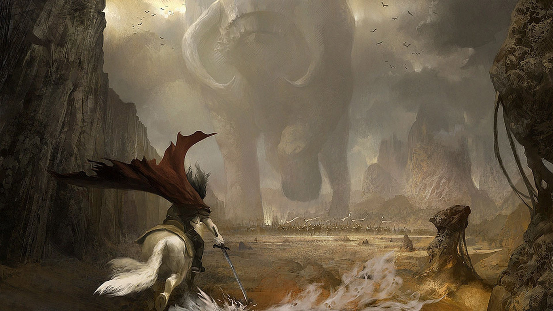 Cibles et missives (quêtes) des Dragonniers 1410038503-battle-against-the-giant-buffalo-type-monster-fantasy-hd-wallpaper-1920x1080-2072