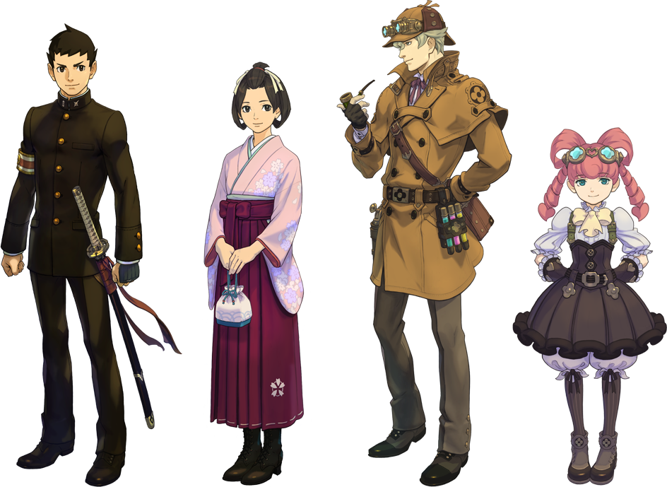 The Great Ace Attorney Official - Phoenix Wright versión Edo 1410414391-the-great-ace-attorney-characters