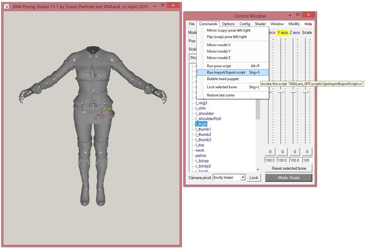 XNA Posing Studio XPS 11.2 -- Wild Hunt Edition -- release 179 1442074622-run-import-script