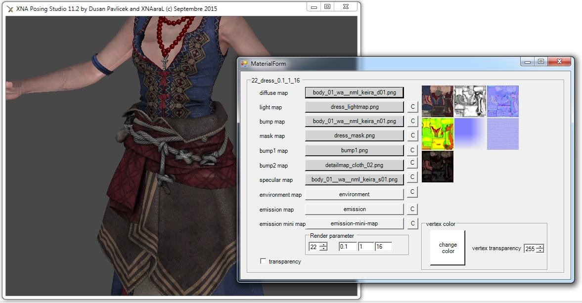XNA Posing Studio XPS 11.2 -- Wild Hunt Edition -- release 179 1443098111-materialeditor