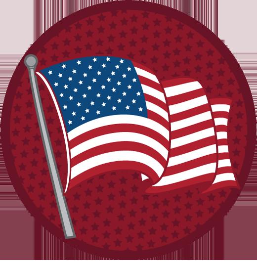 Elections municipales - Dépôt des candidatures / Informations 1480276064-american-flag-circle