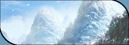 Les monts enneigés