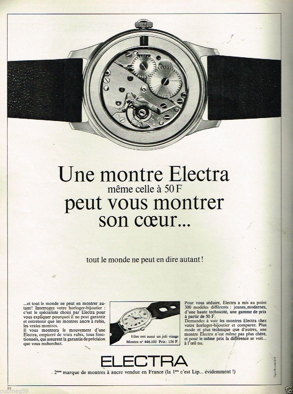 ELECTRA: montre sous licence LIP (60/70's) 1490888719-57