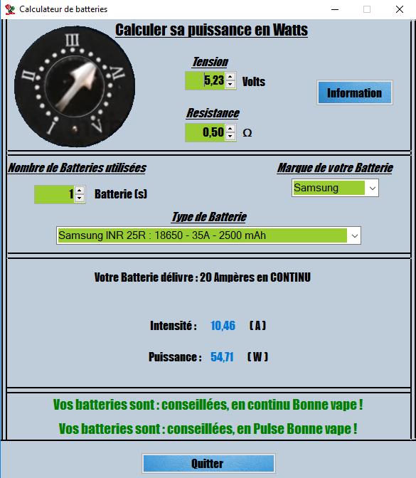 Nouveau logiciel ToolSaVape CalculateurV1.0.2 1501001579-batterie