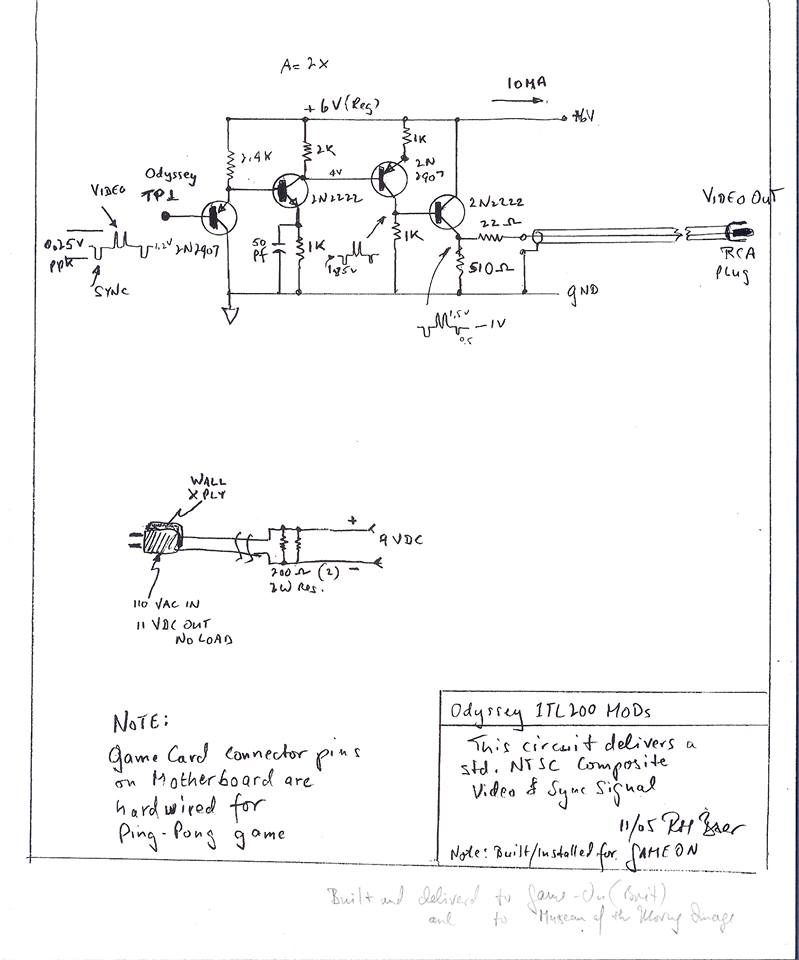 Magnavox Odyssey AV/Composite Mod - Non destructif et réversible- 1511947675-24130046-10155058802308314-6605963814941394507-n