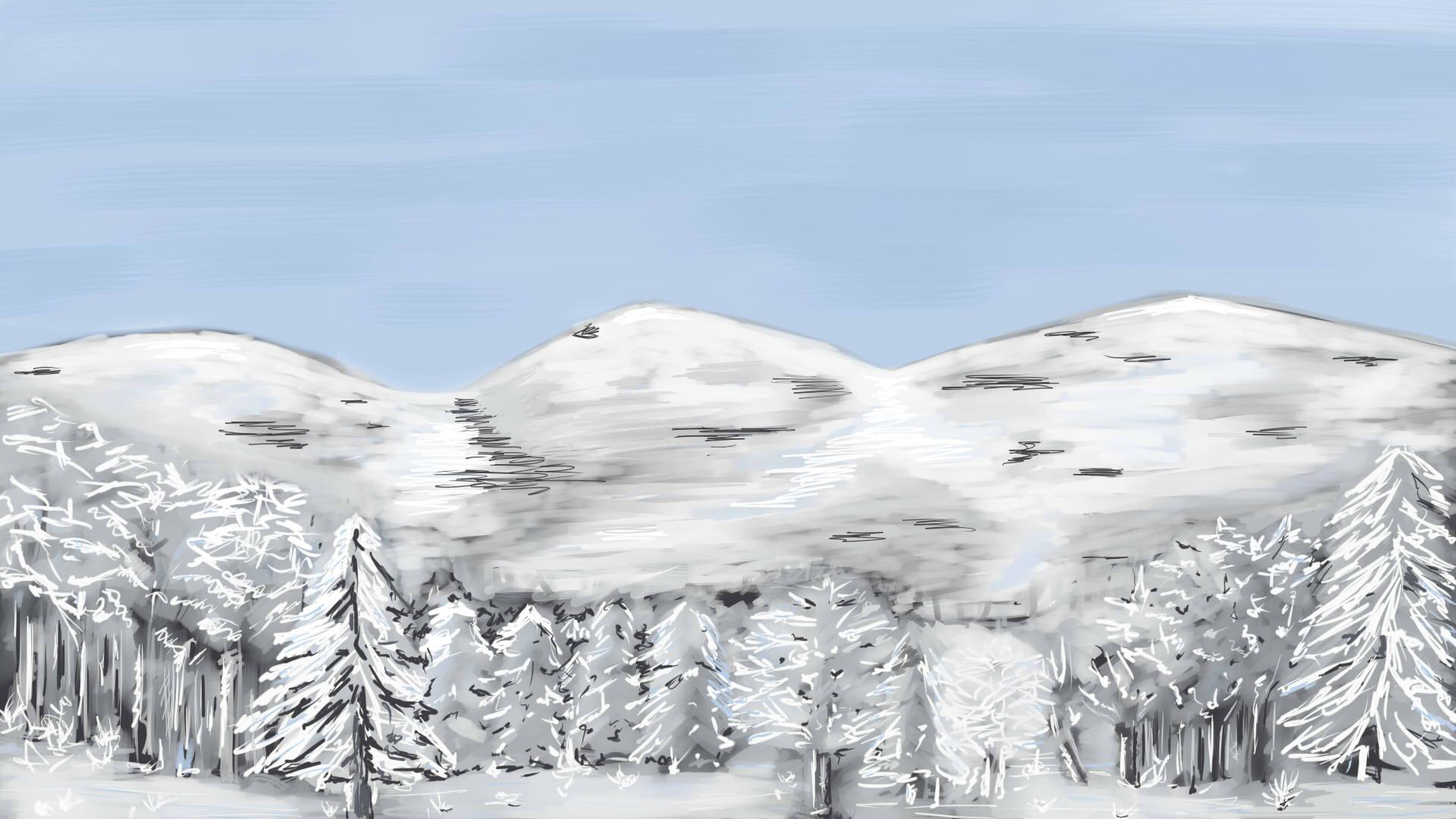 [Défis mensuels] Défi du mois de Janvier 2018 1516469623-payasage-neige-encre-seiche
