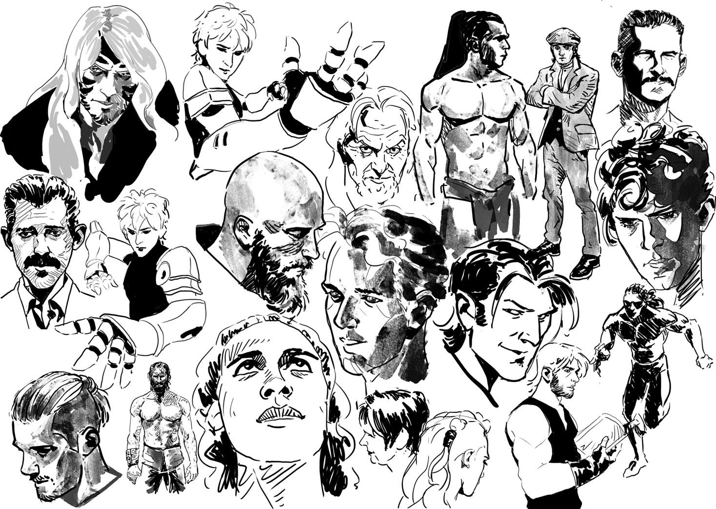 Galerie de dessins, illustrations, divers travaux...  - Page 6 1525554383-sketchs