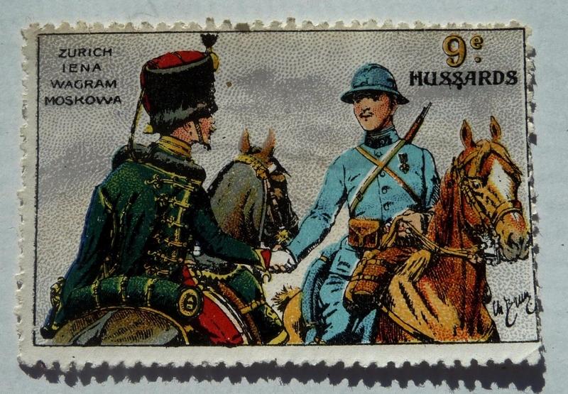 Philatélie, vignettes sur les hussards 1534779458-ancien-timbre-vignette-delandre-9e-regiment-de-hussards