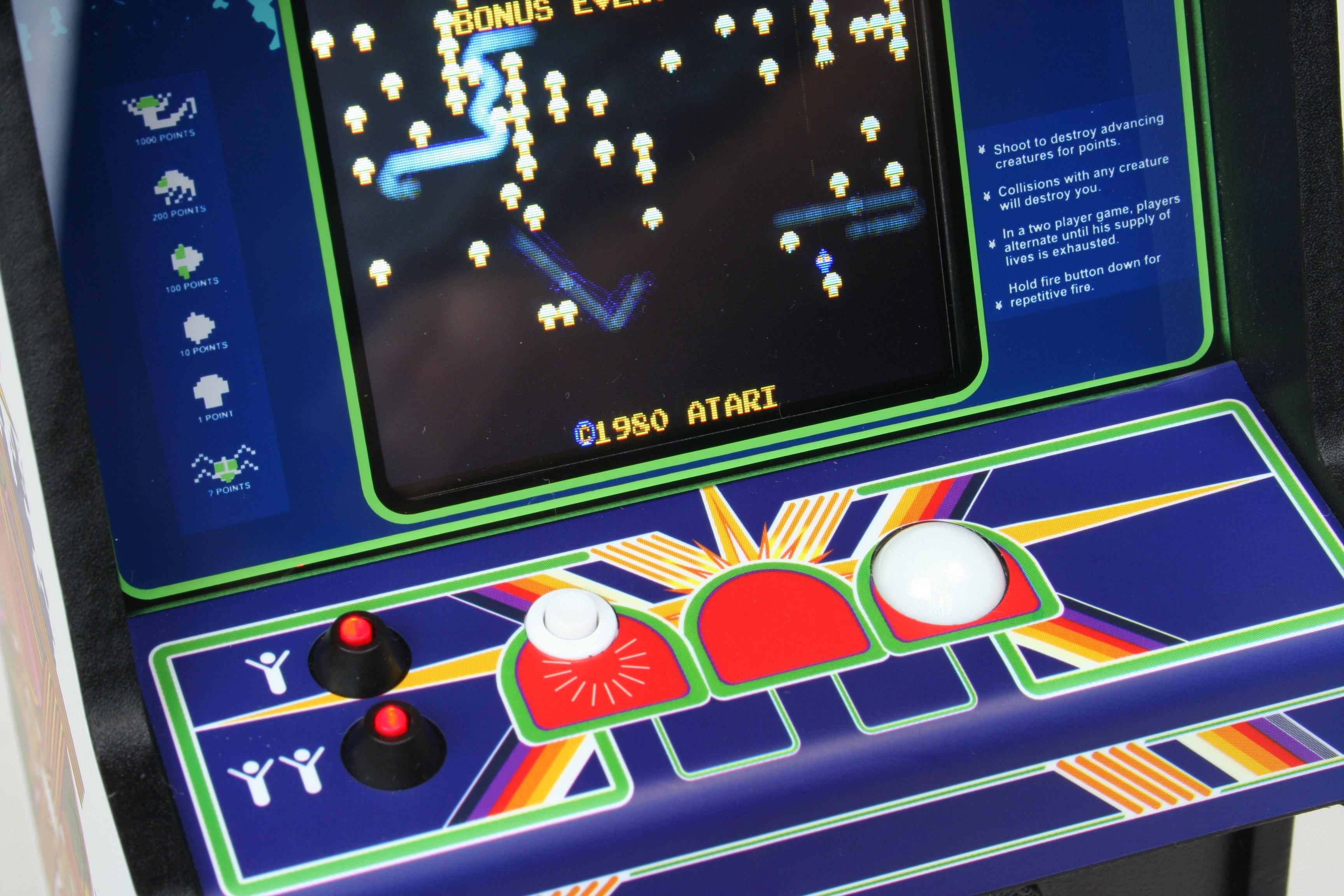 Mini réplique borne arcade Atari : REPLICADE X CENTIPEDE 1537211863-centipedecontrolpanel-left