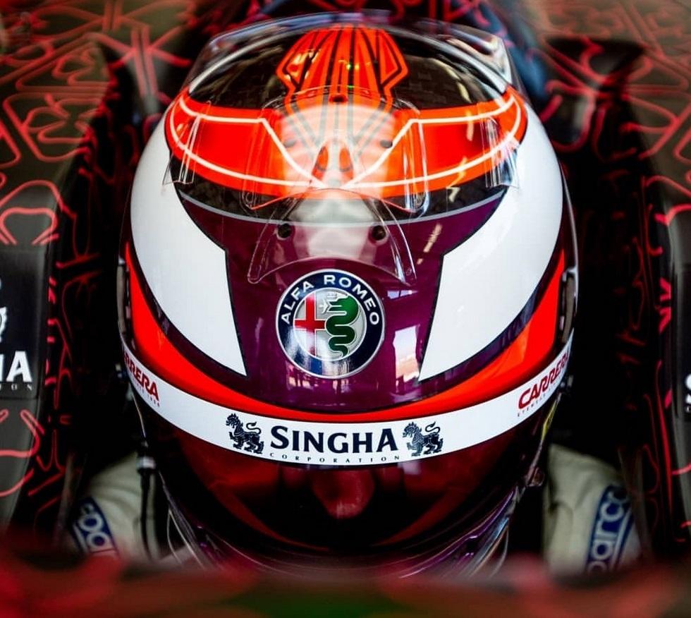 [F1]Kimi Räikkönen - World Champion 2007 - Page 5 1550217386-casquekimi2019