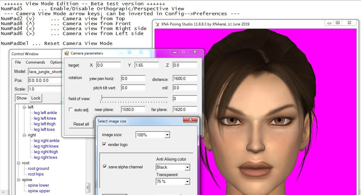 XNA Posing Studio 11.8.9 -- View Mode Edition -- release 189 1561724857-11-8-8-3-beta