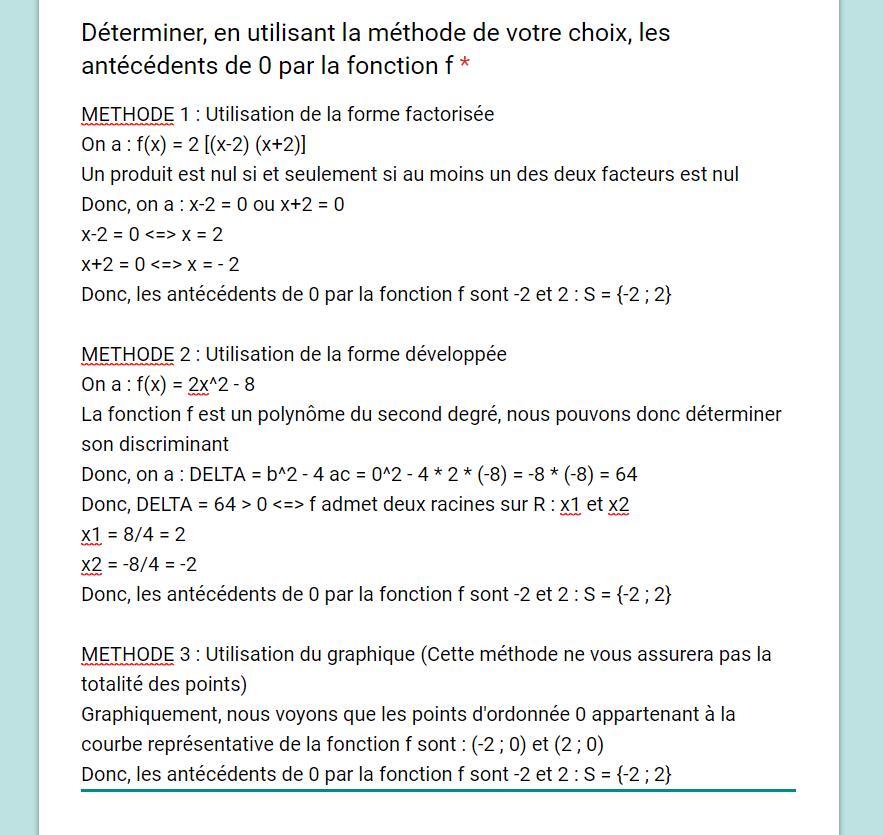 Mathématiques – DM1 - Polynôme du 2nd degré – 07/07/2019 19:30 1562529564-corrige6