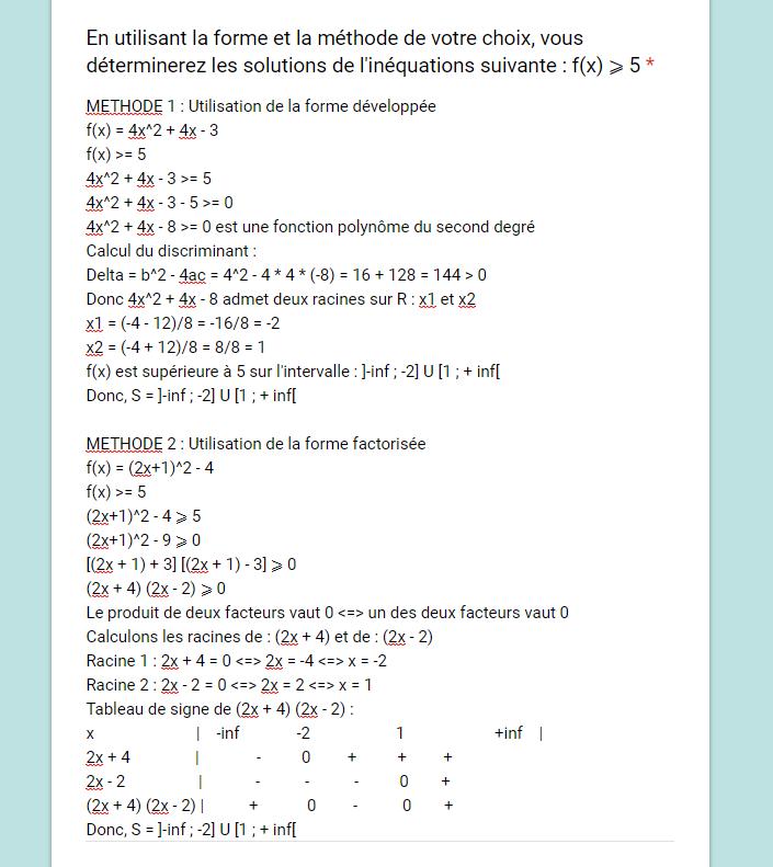 Mathématiques – DM1 - Polynôme du 2nd degré – 07/07/2019 19:30 1562529702-corrige8