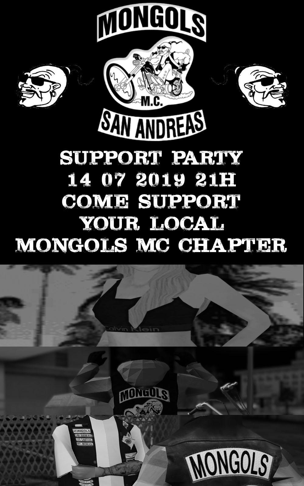SUPPORT PARTY MONGOLS MC 14 / 07 / 2019 ON PERSHING SQUARE 1562933983-mongols-9