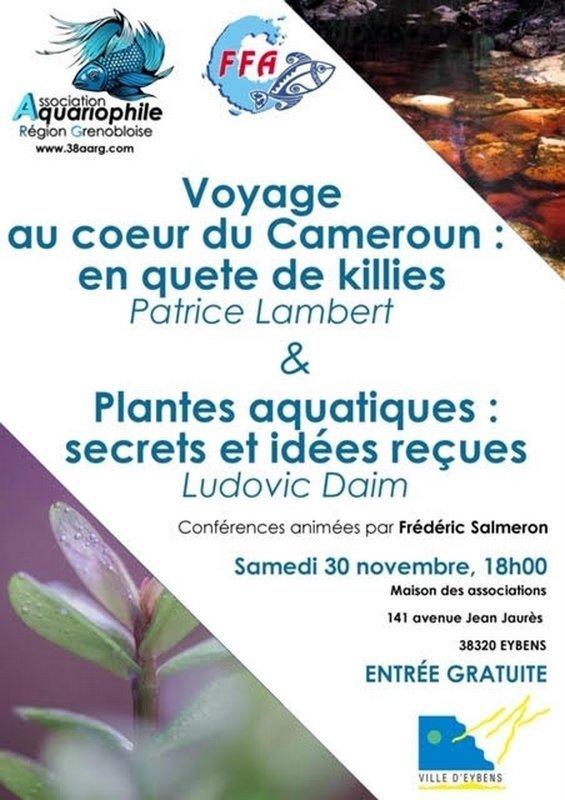 Conférences de l'Association Aquariophile Région Grenobloise  1573405155-conferences-de-l-association-aquariophile-region-grenobloise