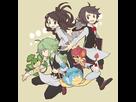 MonochromeShipping (Black/Touya/Ludwig x White/Touko/Ludvina x N)  1440342994-touko-youya-and-n-dressed-as-poddo-dento-and-koon-pokemon-18304739-700-720