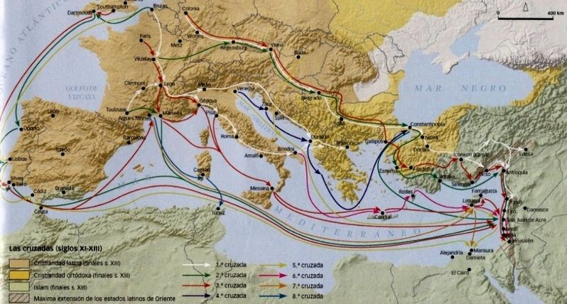 LAS CRUZADAS BBC (2012) Cruzadas-itinerarios2