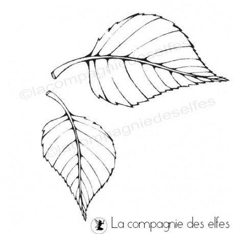 carte noel et nouvel an. Tampon-duo-de-feuilles-non-montes