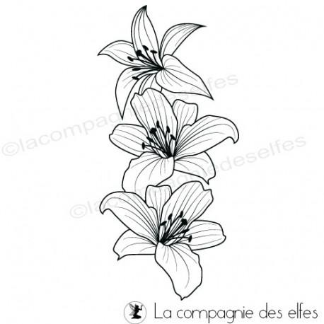 pages scrapbooking. Tampon-fleurs-de-lys