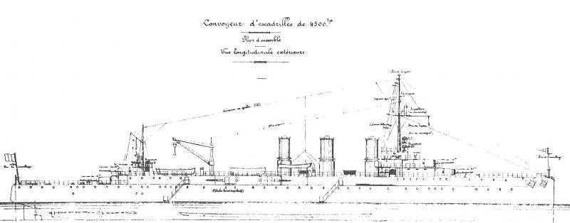 FRANCE CROISEUR LEGER EMILE BERTIN 103270Convoyeur_d__Escadrilles